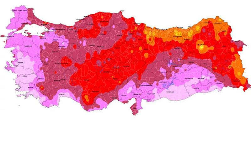 Aşırı sıcak alarmı! İşte o harita...