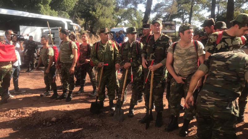 Azerbaycan'dan gelen ekip Marmaris'te