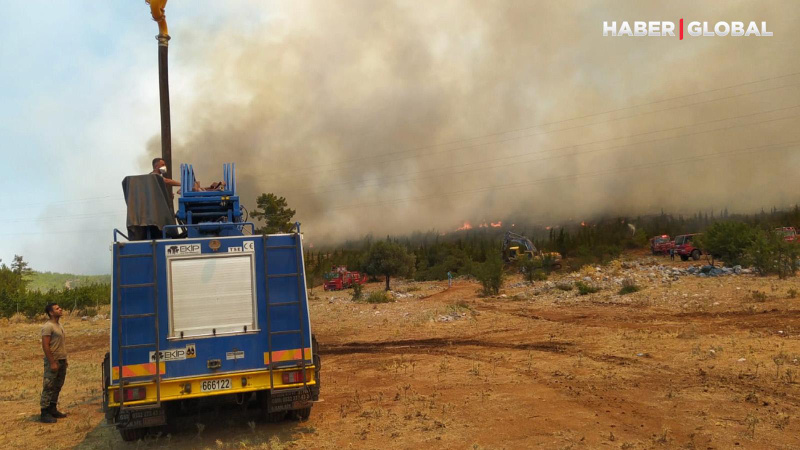MSB yangınlara müdahale görüntülerini paylaştı