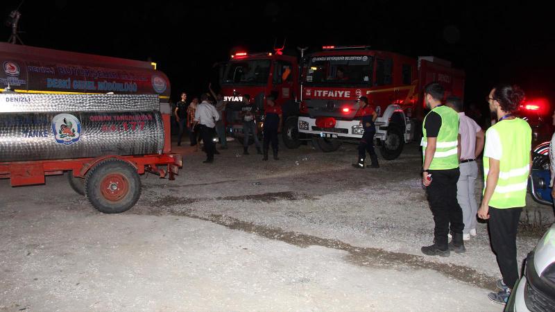 Denizli Buldan'daki yangın yeniden kontrol altında