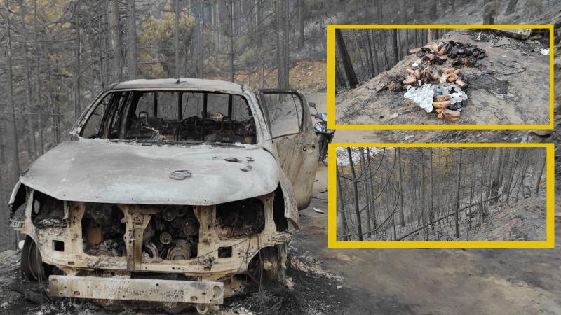 Karacasu üç gündür yanıyor! 450 hektar alan kül oldu
