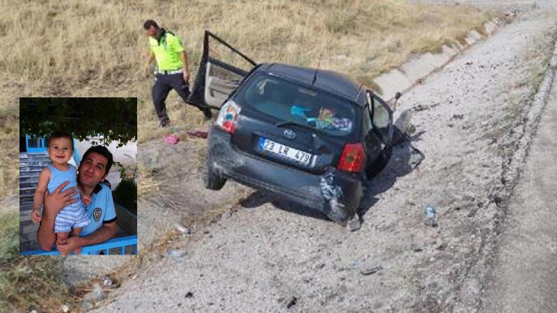 Şarampole yuvarlanan otomobildeki polis hayatını kaybetti