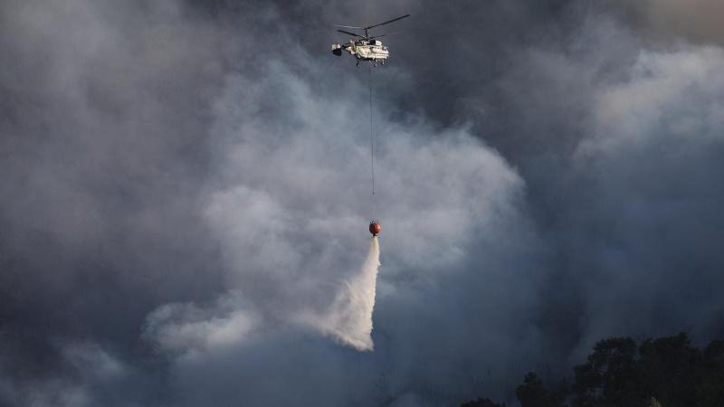 Çine'de orman yangınları söndürme çalışmaları sürüyor