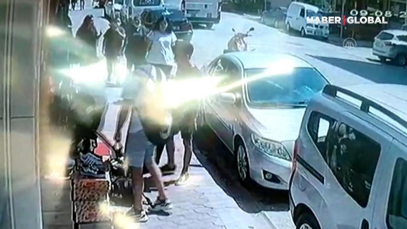 Terlik hırsızlığı güvenlik kameralarında