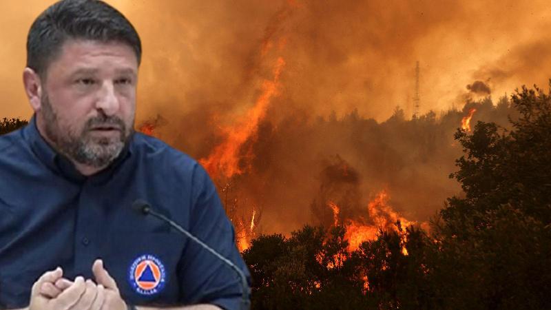 Yunan bakan 'yangın' sorusu karşısında gözyaşlarını tutamadı