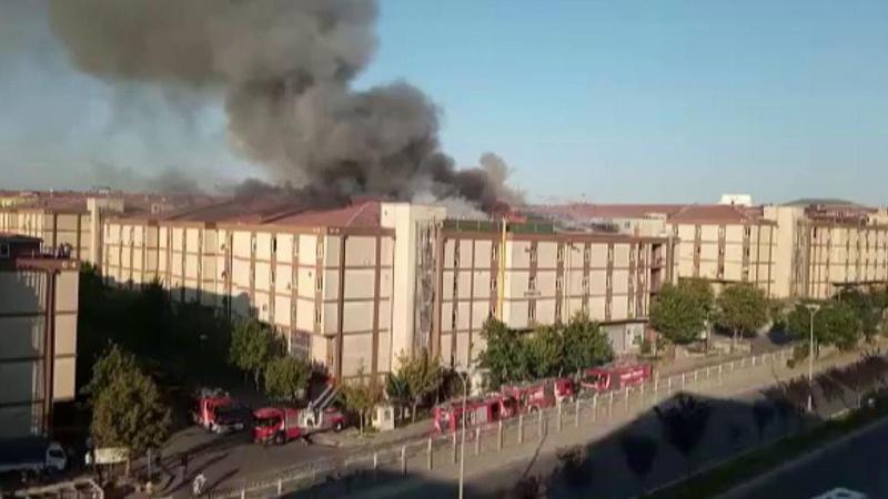 Başakşehir sanayi sitesinde büyük yangın!