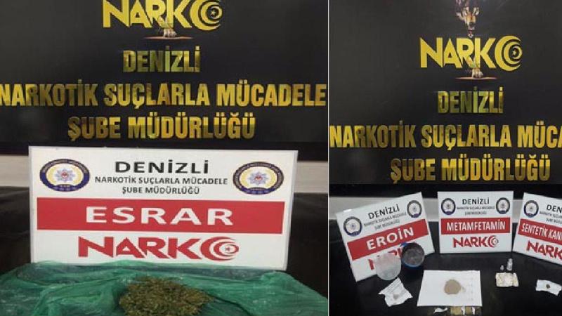Denizli'de uyuşturucu satıcılarına büyük darbe