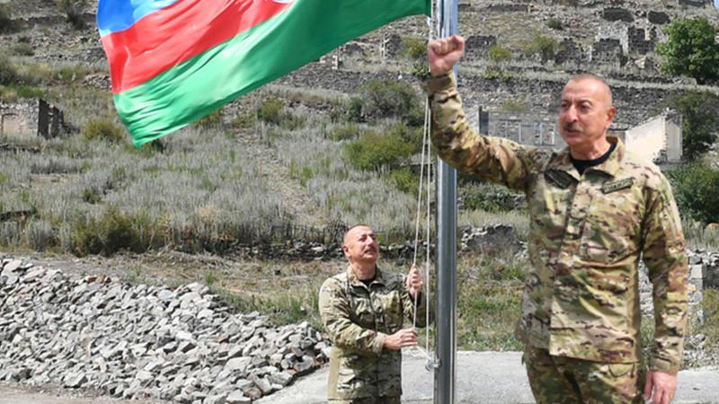 Aliyev 2. Karabağ Savaşı'nın ardından ilk kez Kelbecer'de