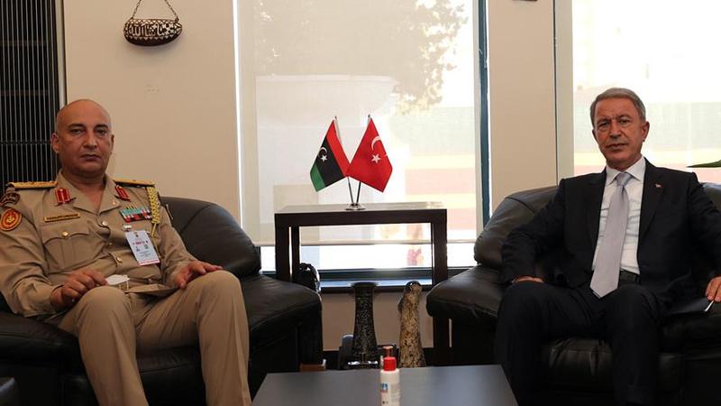 Bakan Akar Libya Genelkurmay Başkanı Haddad'ı kabul etti