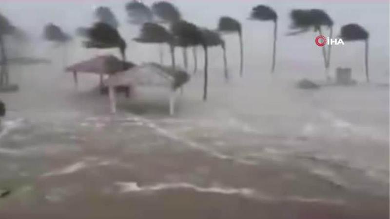 Korku filmi gibi! Kasırga böyle geldi