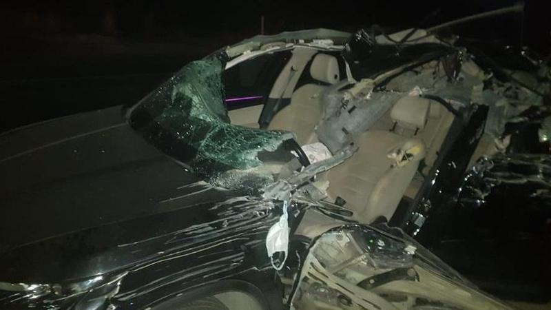 Otomobil hafriyat kamyonuna arkadan çarptı!