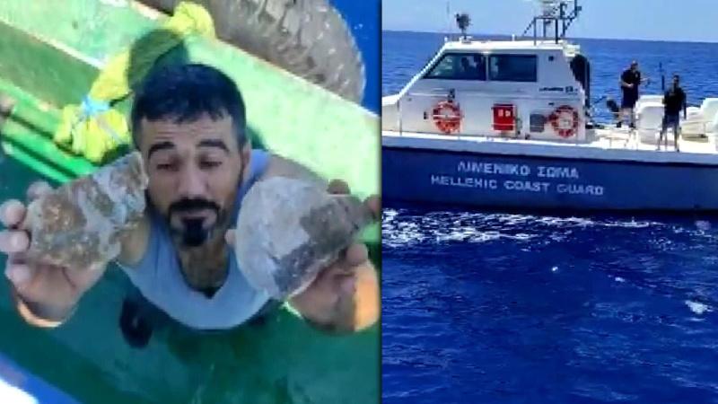 Ege'de Türk balıkçılara taşlı saldırı
