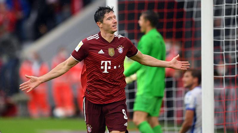 Bayern Münih, Hertha Berlin'e acımadı