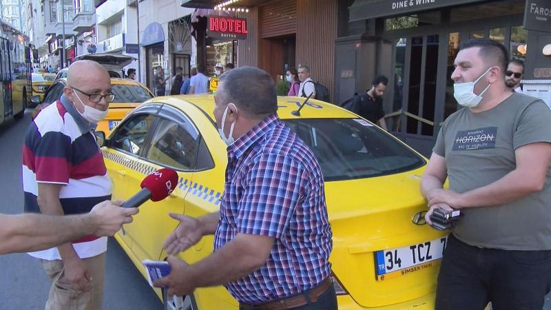 Trafikten men edilen taksinin sürücüsü: Adam mı ezdim?