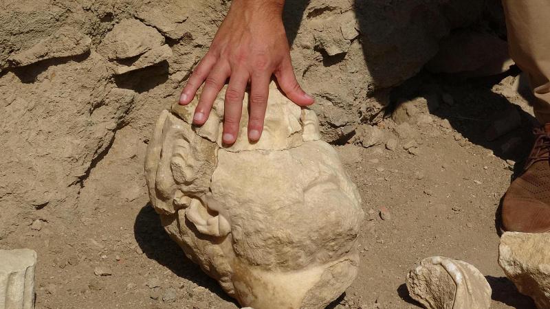 Roma İmparatorunun parçaları Aydın'da bulundu