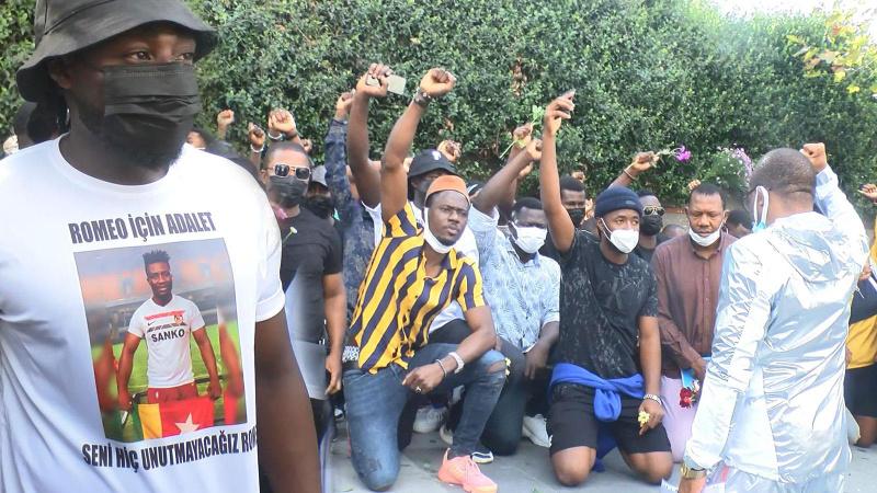 Esenyurt'ta öldürülen Togolu Romeo Ekoka için toplandılar