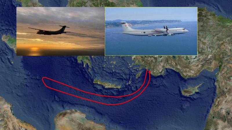 Akdeniz'de keşif ve gözetleme uçuşu gerçekleştirildi