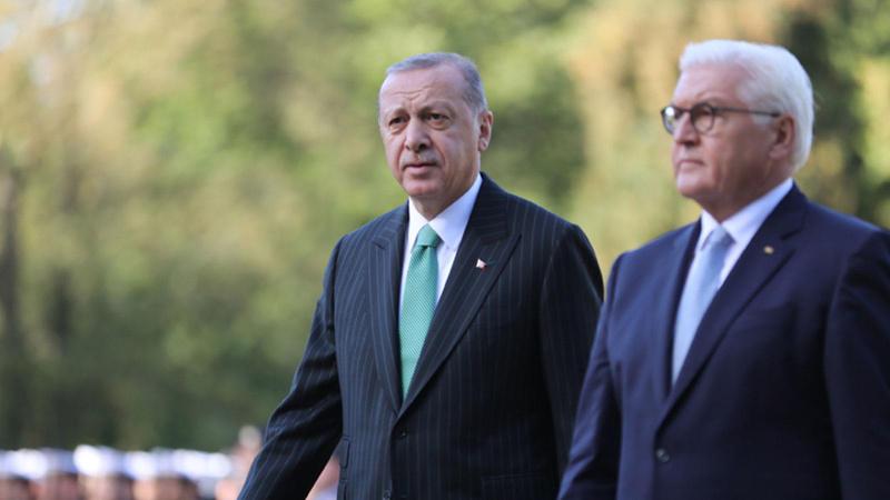 Cumhurbaşkanı Erdoğan Almanya Cumhurbaşkanı ile görüştü