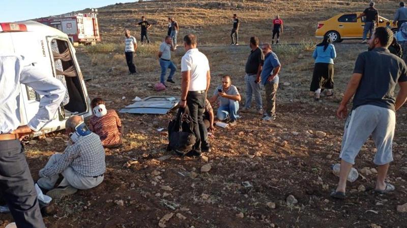 Mardin'de feci kaza! 10 kişi yaralandı