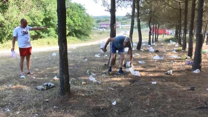 Sarıyer'de isyan ettiren görüntü! Piknikçilerden geriye çöp yığınları kaldı