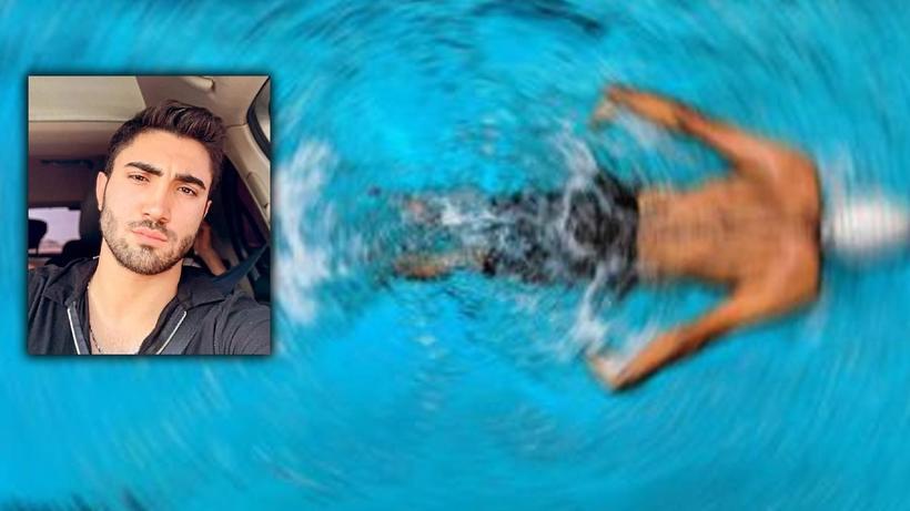 Havuza atlayıp başını betona çarptı!