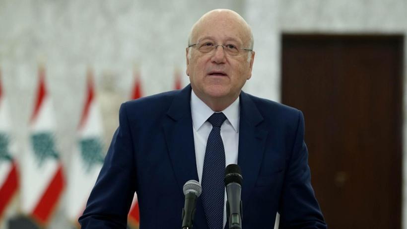 Eski Başbakan Mikati ile Cumhurbaşkanı Avn arasında 'yeni hükümet' görüşmesi