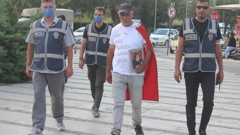 PKK tarafından dağa kaçırılan kızı için İzmir'den Ankara'ya yürüyor
