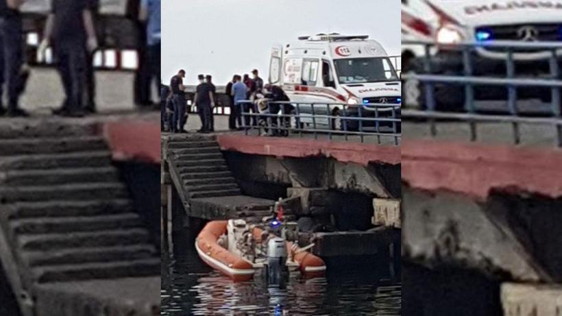 Trabzon Akçaabat'ta balıkçı ağına ceset takıldı