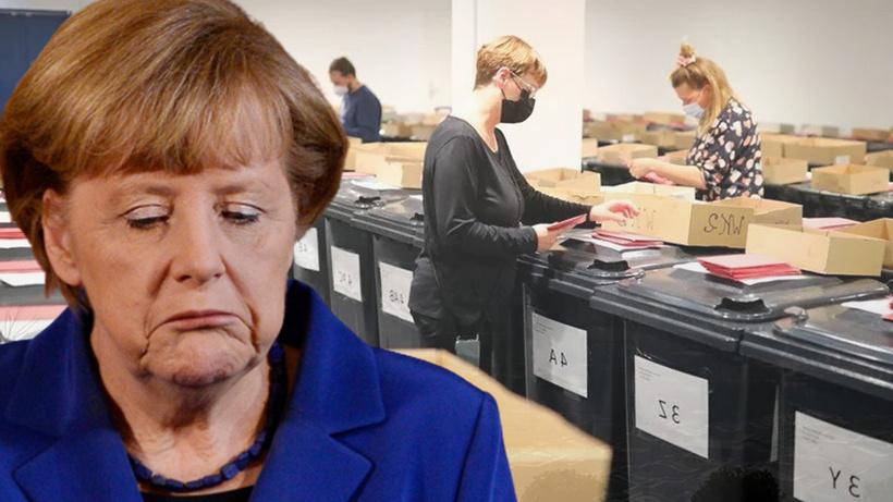 Almanya'da tarihi sonuçlar! Merkel'in partisi gelmiş geçmiş en kötü performansı gösterdi