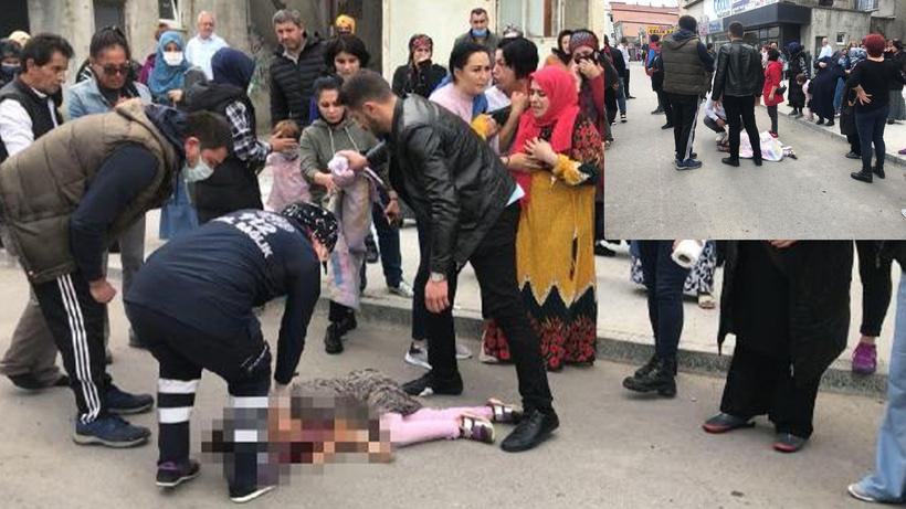 Caddede oyun oynayan küçük kızın feci ölümü