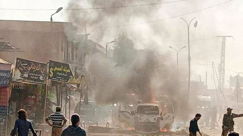 Afrin'de PKK/YPG'den bomba yüklü araçla saldırı! Ölü ev yaralılar var