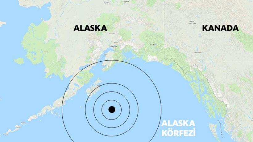 Son dakika Alaska'da 6.5 büyüklüğünde deprem (Son depremler)