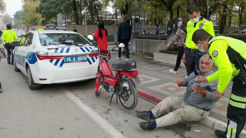 Bursa'da motosiklet sürücüsü cezayı duyunca fenalık geçirdi
