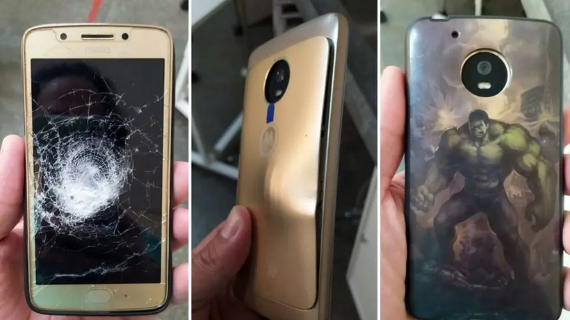 Hulk tasarımlı telefon kılıfı sahibini ölümden kurtardı