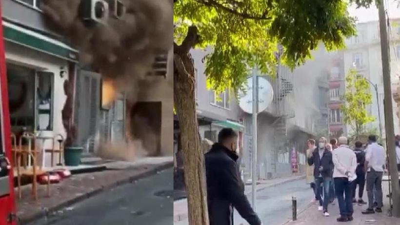 İstanbul Nişantaşı'nda iki bina arasında sıkışan trafo yangına neden oldu