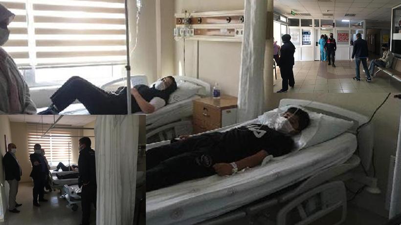 Manisa'nın Gördes ilçesinde ortaokulda zehirlenme şüphesiyle 19 öğrenci hastaneye kaldırıldı