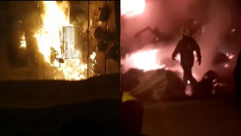 3 katlı binanın doğalgaz hattında parlama! 2 ev yandı
