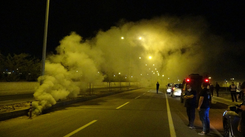 Kanalizasyondan çıkan duman panik yarattı