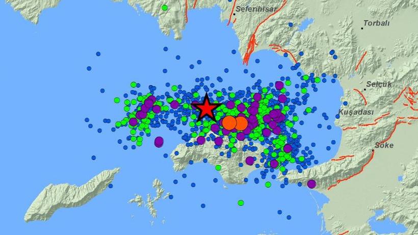 Kandilli'den İzmir açıklaması: 1875 artçı deprem