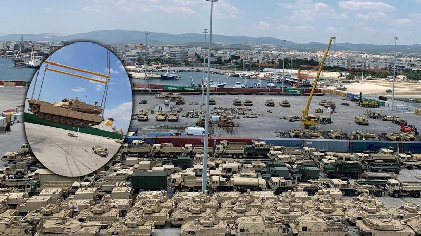 ABD'den Türkiye'nin Yunanistan sınırına yüzlerce tank ve zırhlı araç sevkiyatı