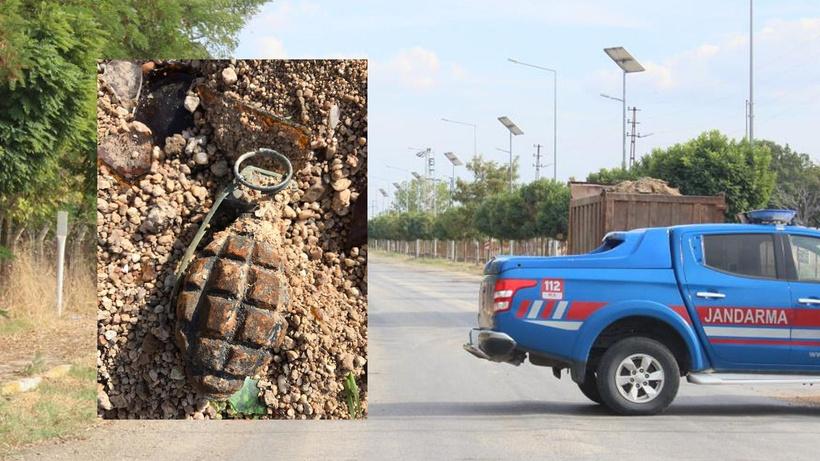 Kırklareli'nde boş arazide el bombası bulundu