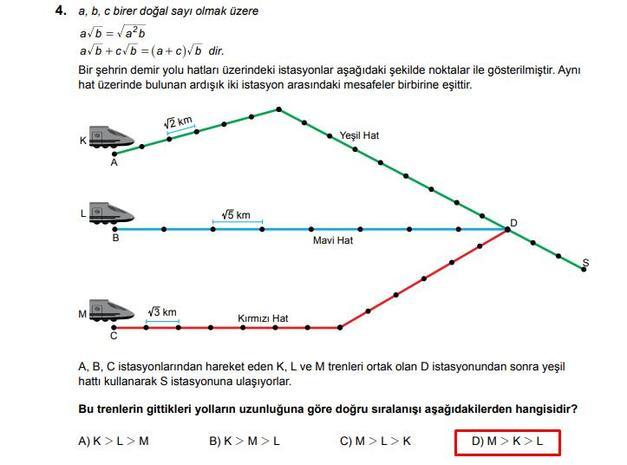 LGS 2020 Matematik 4. Soru ve Cevapı