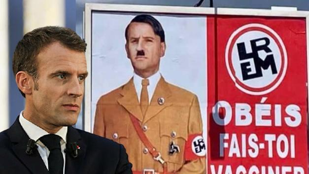 Fransa Cumhurbaşkanı Macron'un Hitler'e benzetildiği afişi asana 10 bin  avro ceza