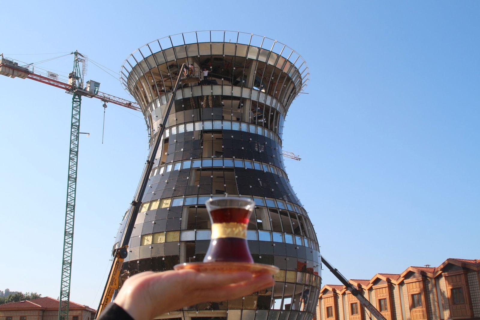 Rize'deki dünyanın en büyük çay bardağı Guinness'e aday! 30 metre yüksekliğinde - Resim: 1