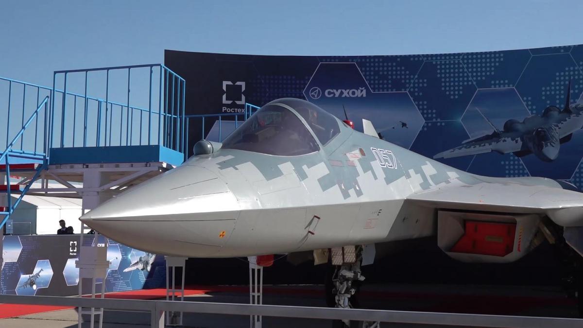 İşte Erdoğan'ın Rusya'da incelediği Su-57 uçağı - Resim: 1