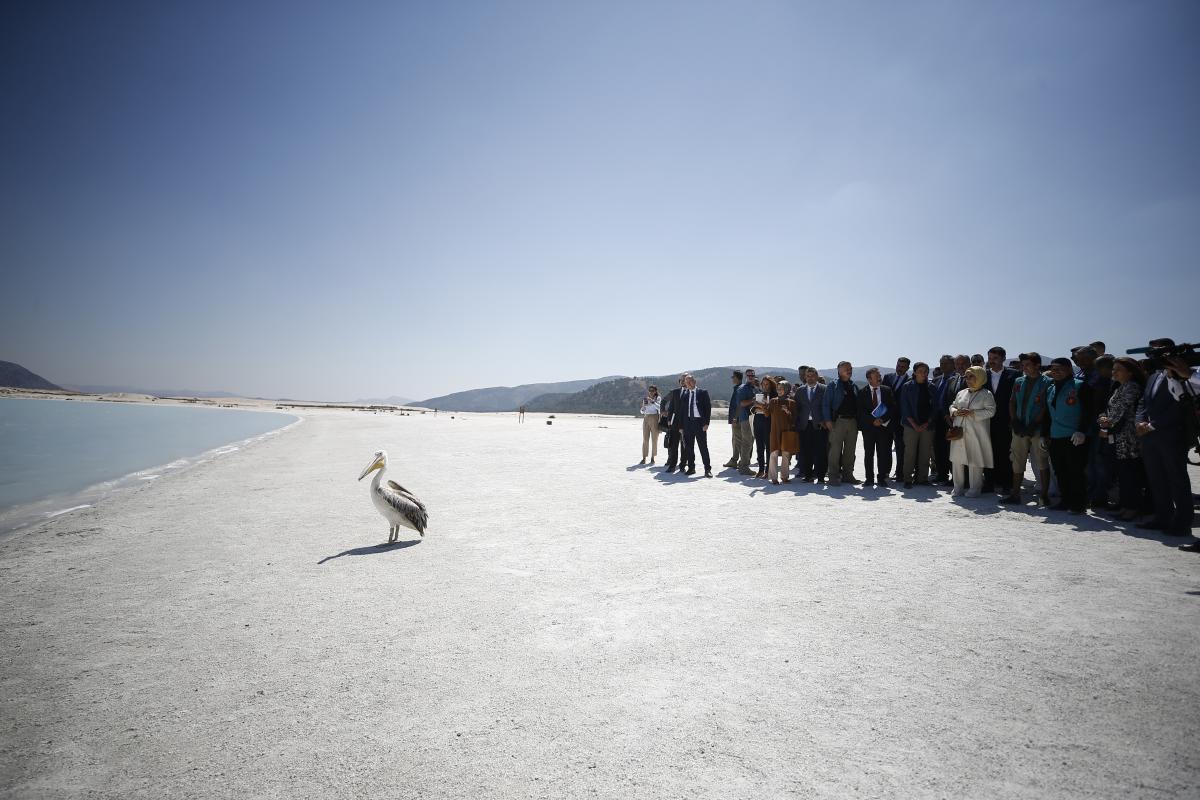 Emine Erdoğan, Salda Gölü'nde incelemelerde bulundu - Resim: 1