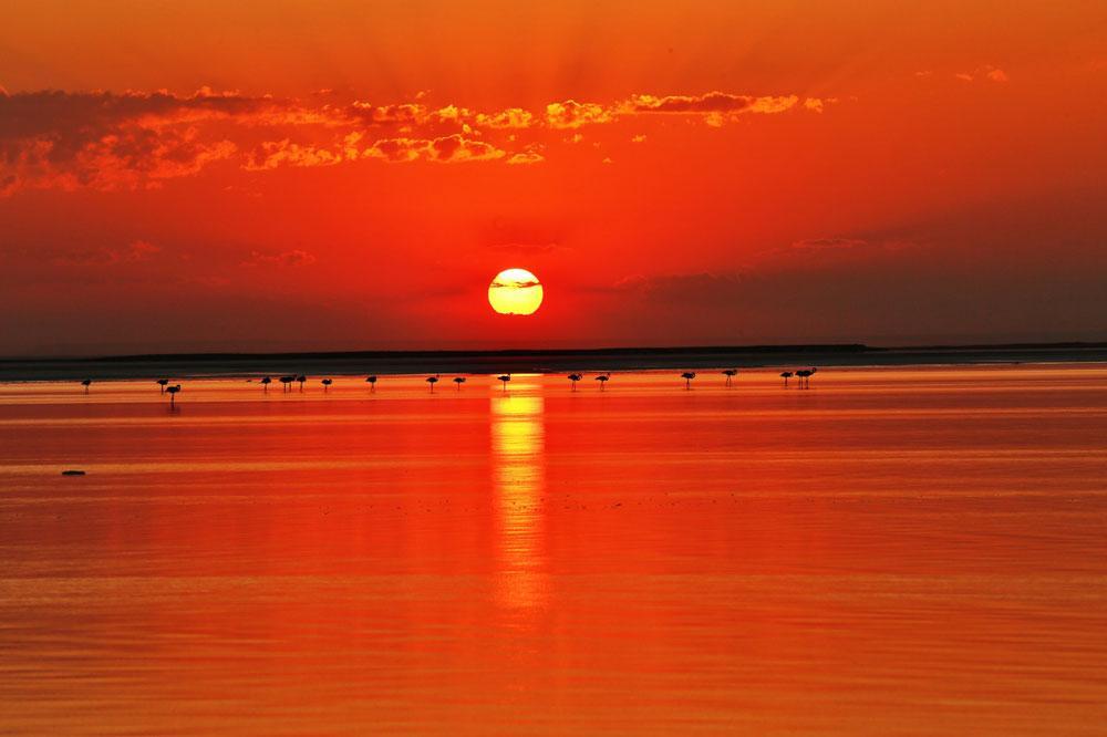 Tuz Gölü eşsiz manzarasıyla doğal fotoğraf stüdyosu oldu - Resim: 1