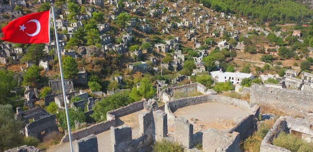 Terk edilmiş 'hayalet köy' havadan görüntülendi - Resim: 3
