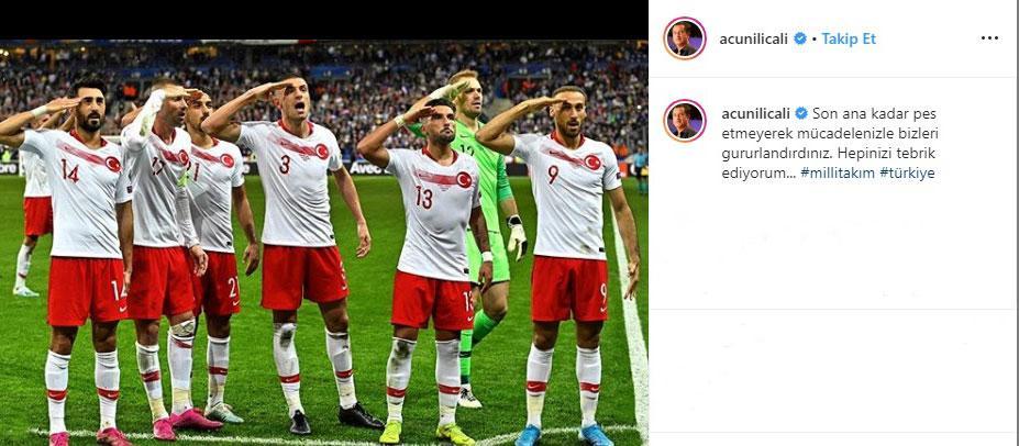 Ünlü isimlerden Milli Futbol Takımı'na 'tebrik' mesajı yağdı - Resim: 1