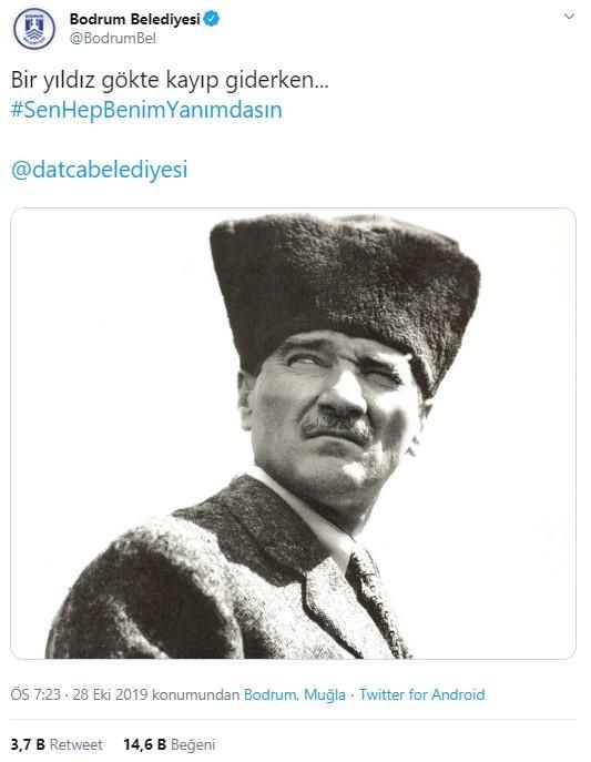 CHP'li belediyelerden twitter'da 29 Ekim zinciri: #SenHepBenimYanımdasın - Resim: 1